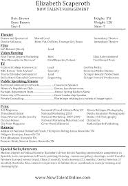 Sample Aspiring Plus Size Model Resume