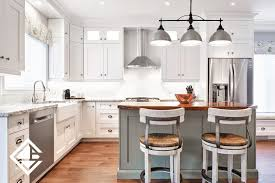 rustic white country kitchen.  Kitchen Beautiful Two Toned Grey And White Cabinets With Rustic Wooden Countertop  On Island  Inside Rustic White Country Kitchen