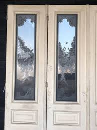 antique french cau etched glass