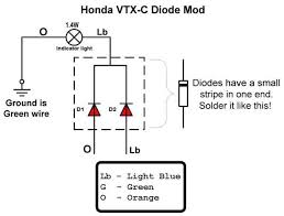 vtx 1800c diode fix  bareass choppers motorcycle tech pages diode schematic