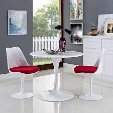 white round kitchen table. amazon.com: modway lippa 36\ white round kitchen table