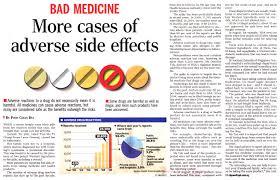 medicine side effects list