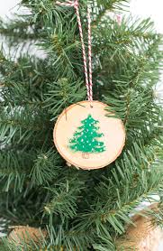 rustic wood painted ornaments