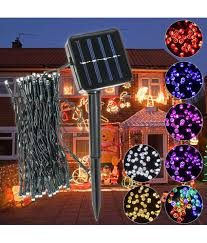 Solar Gate Lights Price In India Buy Outdoor Solar Powered 5 2m 50 Led Fairy String Light