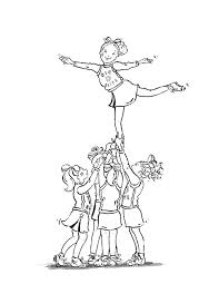 Printable Cheerleading Coloring Pages Coloringmecom
