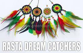 Bob Marley Dream Catcher Rasta Dream Catchers Green Daun 7