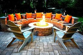 patio furniture with fire pit stone