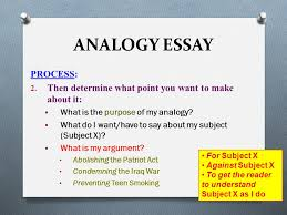 analogy essay pre writing the process analogy essay process  analogy essay process 2
