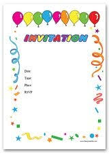 free birthday invitation template for kids birthday invitation card template printable template idea