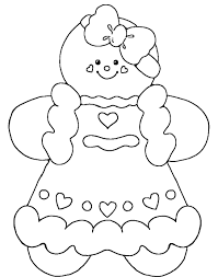 Small Picture Gingerbread Man Coloring Page Throughout Coloring Pages glumme