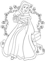 Free Printable Disney Princess Christmas Coloring Pages Disney Easy