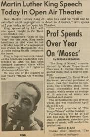 mlk on the mesa newscenter sdsu open air theater and repeated most of what it reported two days earlier and also wrote that king would speak that night at ldquocal western s golden gym