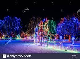 Holiday Lights Mankato Kiwanis Holiday Lights At Sibley Park In Mankato Stock Photo