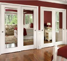 Awesome Mirrored French Doors Intended For Closet Roselawnlutheran