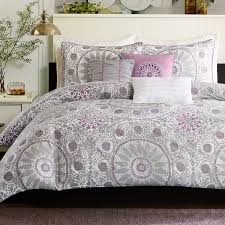 grey and purple duvet covers
