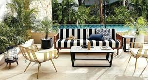 decoration black and white outdoor furniture new striped lounge cushions design ideas intended for dining chair