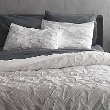 melyssa white king duvet cover cb2 within decor 2