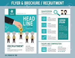 Recruitment Brochure Template Recruitment Flyer Design Vector Template In A4 Size Brochure