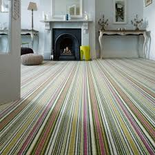 Biscayne Marshmallow Striped Carpet - BS103