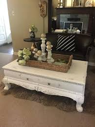 white chalk paint coffee table rustic furniture by black