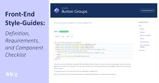Design System Checklist Front End Style Guides Definition Requirements Component