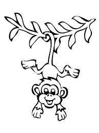 Monkey Coloring C1645 Monkey Coloring Pages Free Printable Monkey