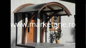 copertina din lemn pentru intrarea in casa copertine lemn usa intrare
