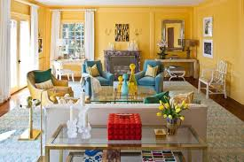 40 Charming Blue And Yellow Living Room Design Ideas Rilane Inspiration Yellow Living Rooms Interior