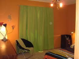 dazzling design curtain color for orange walls inspiration