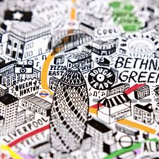 map wall art london art