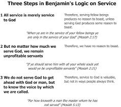 86 Three Steps In Benjamins Logic On Service Byu Studies
