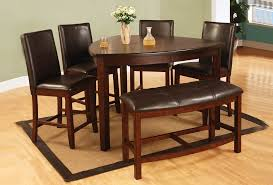 elegant dining room furniture sets with brown lacquered wooden triangle dining table and 4 dark brown