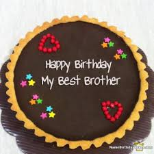 Happy Birthday Cake Images For Brother With Name Dankaufmaninfo