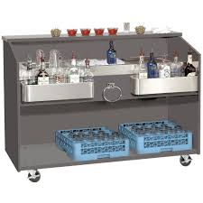 portable patio bar. Advance Tabco D-B Portable Bar With Stainless Steel Work Top - 61 Inch X 24 1 Patio