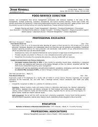 Sample Resume For Food Service Manager Cover Letter Sample