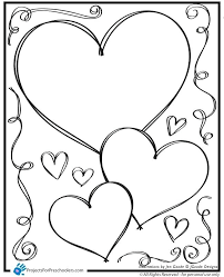 valentine heart coloring pages of hearts for valentines day love colouring sheets best
