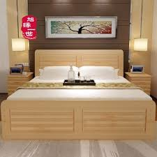 2017 latest double bed designs wood with box cheap price solid adult in33 bed