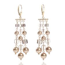 crystal pearl earrings photo 1