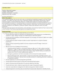 Engineer Job Description Best Photos Of Electrician Job Description Electrician Job Bunch 13