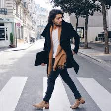 Martens range of chelsea boots; 21 Cool Men Outfit Ideas With Chelsea Boots Styleoholic
