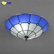 stained glass ceiling light. FUMAT Tiffany Ceiling Lamp European Living Room Restaurant Stained Glass Light Mediterranean Art LED Blue Shade Lights-in Lights From F