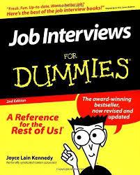 Job Interview Books 9780764552250 Job Interviews For Dummies Abebooks Joyce Lain