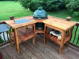 outdoor table with built in bbq weber grill cart diy woodworking projects plans