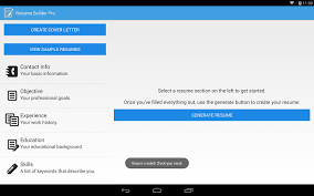 Resume Builder Pro Android Apps On Google Play Resume Builder App