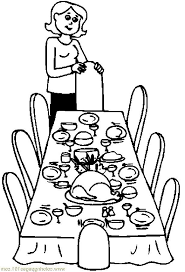 kitchen table clipart black and white. kitchen table clipart black and white