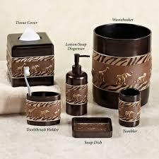 Copper Bathroom Accessories Sets Home Bath Bath Accessories Animal Parade Safari Bath Accessories