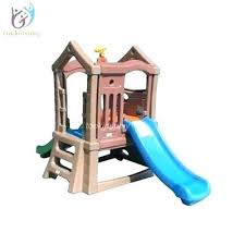 childrens playhouse with slide climbing up sliding down small plastic slide set swing playhouse with outdoor