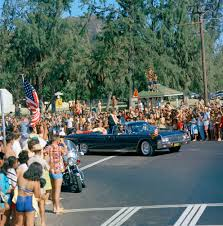 st c president john f kennedy s car travels in president john f kennedy s car travels in motorcade in honolulu hawaii