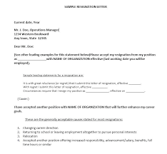 Office Resignation Letter Sample A Of Template Job In Word Examples