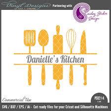 kitchen utensils split silhouette. Wonderful Split Split Kitchen Utensils And Silhouette U